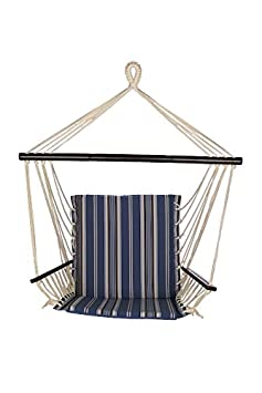 Bliss Hammocks BHC-482 Metro Hammock Chair, Blue Stripe
