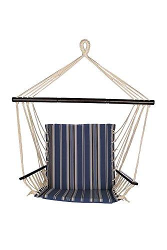 Bliss Hammocks BHC-482 Metro Hammock Chair, Blue Stripe