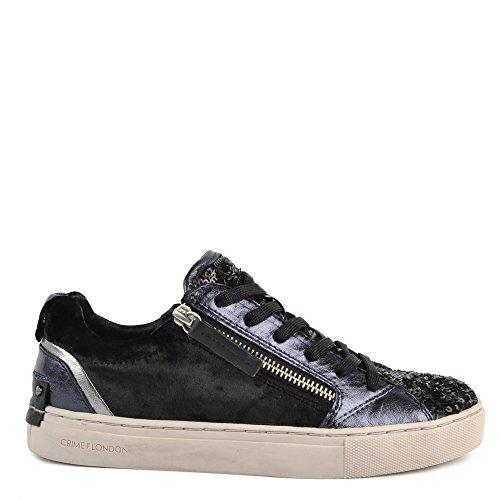 CRIME London Schuhe Java Lo Sneaker Aus Leder Schwarz Damen 39 Schwarz