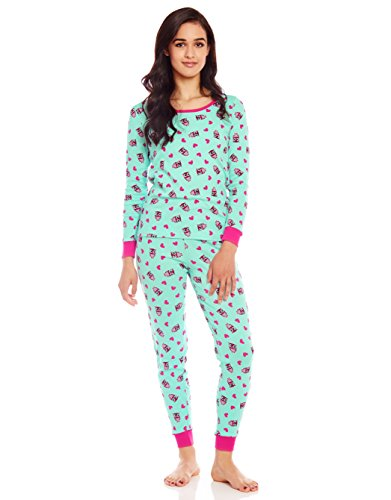 Leveret Women 2 Piece Pajama Owl Small (Owl Yours Pajamas)