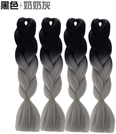 Tinte africano gran trenza gradiente de color negro peluca ...