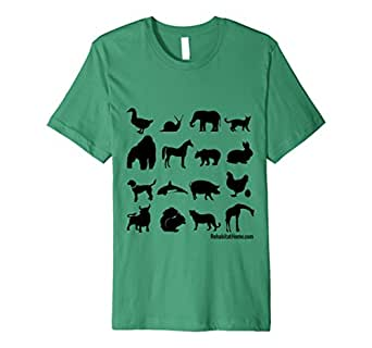Men's Animal silhouette shirt for kids, parents, & animal lovers 3XL Kelly Green