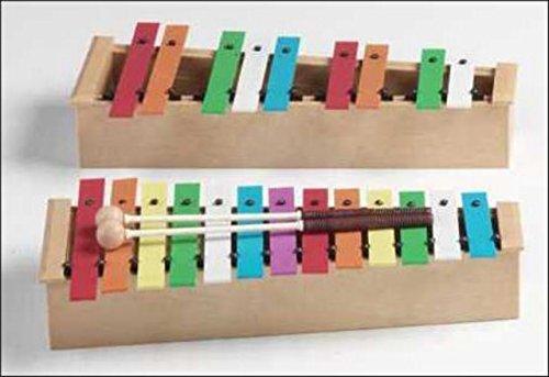 CARRILLON CROMATICO - Honsuy (Carrillon Alto Cromatico) Do/La (Laminas de Colores) Base de Plastico