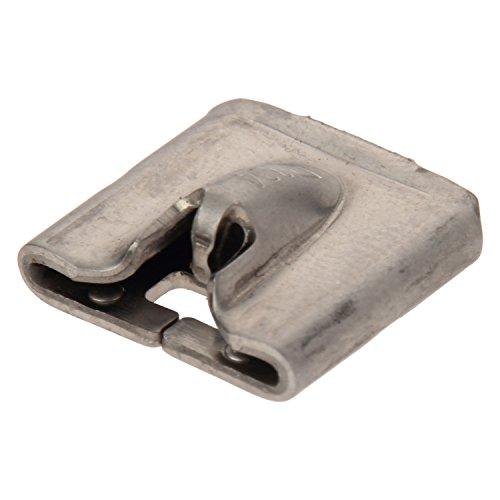 Panduit MTHS-C Pan-Steel Custom Length Banding Head, Loose Piece Banding Head, Standard Cross Section Banding, AISI 304 Stainless Steel (Pack of 100)