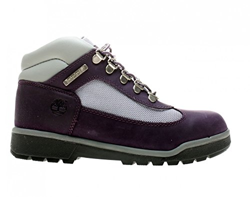 Timberland Children's Field Boot Leather/Fabric,Purple/Grey