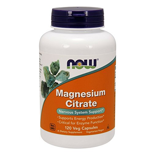 NOW Magnesium Citrate 400 mg,120 Capsules