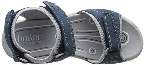 mit Blue Offene Keilabsatz Sandalen Blau Hotter River Mae 105 Damen SqZ47