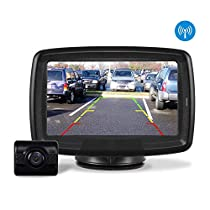 AUTO-VOX TD-2 Digital Wireless Backup Camera Kit , Stable Signal Reverse Camera Kit with Super NightVision , IP 68 Waterproof Rear View Camera 4.3 LCD Monitor 12V-24V for Trucks, RV, Vans, Camping Cars, Trailer