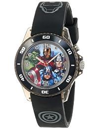 Marvel The Avengers AVG3508 - Reloj para niños con correa de goma negra