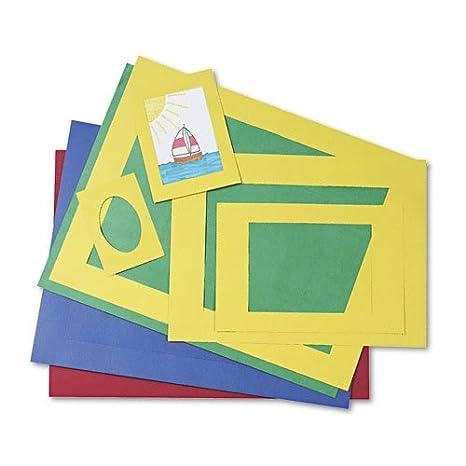 Amazon.com: Pacon 72550 Precut Mat Frames, 4 Assorted Colors, 12 ea ...