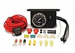 VIAIR Illuminated Dash Panel Gauge Kit, Black Face (200 PSI, 30 Amp)