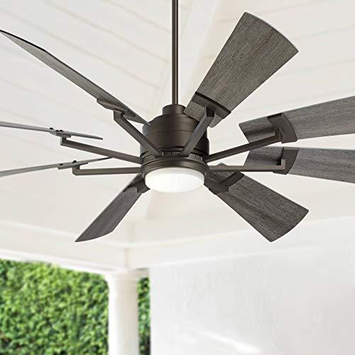 """72"""" Casa Vieja Windmill Breeze Bronze LED Ceiling Fan - Casa Vieja Lamps Plus"""