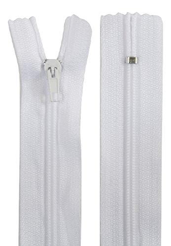 Farbe: weiß 50 Reißverschlüsse 45 cm lang spiral 3 mm breit 0,23 EUR//Stück