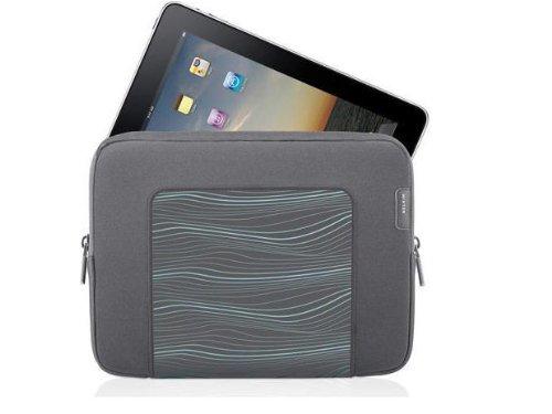 Belkin F8N278tt131 Grip Sleeve for Apple iPad2 and iPad - Flint Gray