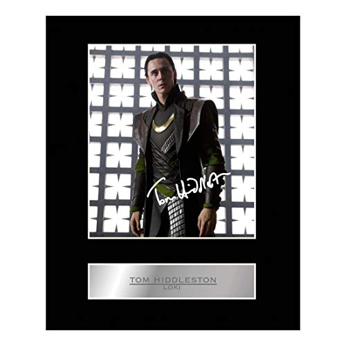 - Tom Hiddleston as Loki Signed Mounted Photo Display ThorTH Autographed Gift Picture Print