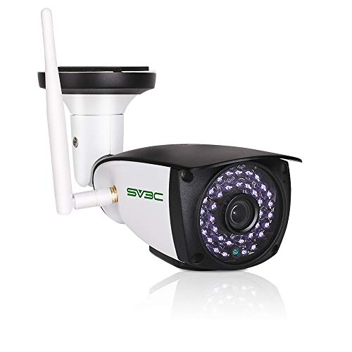 5MP Outdoor Security Camera, SV3C WiFi Wireless 5 Megapixels HD Night Vision Surveillance Cameras, 2-Way Audio IP Camera, Motion Detection CCTV, Weatherproof Outside Camera Support Max 128GB SD Card (Best Outdoor Cctv Camera)