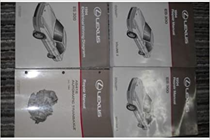 1994 lexus es300 es 300 service repair manual set 4 vol (2 volume set, electrical  wiring diagrams manual, and the automatic transaxle manual