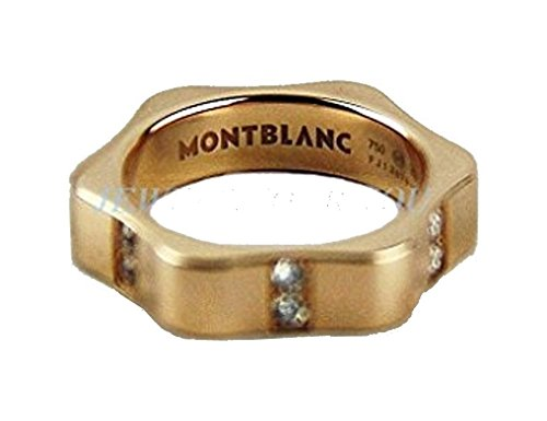 Mont Blanc Ring (Montblanc Star Yellow Gold Diamond Ring 101043 Size 52, 6 Us New Box Germany)
