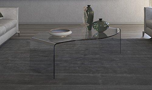 Victa Mesa de Centro de Cristal Mod.Caracol cm 110 x 75 x H.32 ...
