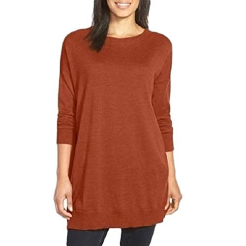 Discount Eileen Fisher Merino Wool Bateau Neck Tunic Sweater for sale