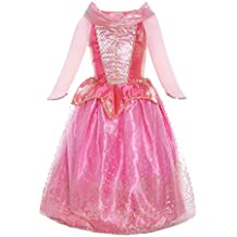 ReliBeauty Girls Princess Aurora Dress Costume