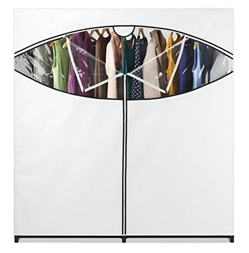 Whitmor Extra Wide Portable Clothes Closet, White by Whitmor (Image #3)