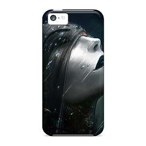 linJUN FENGBrand New 5c Defender Case For Iphone (dark Gothic Rain)