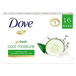 Dove go fresh Beauty Bar, Cucumber and Green Tea 4 oz, 16 Bar