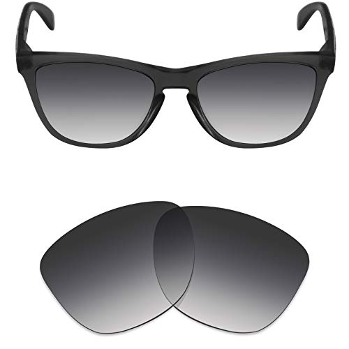 Mryok Polarized Replacement Lenses for Oakley Frogskins - Grey Gradient Tint ()