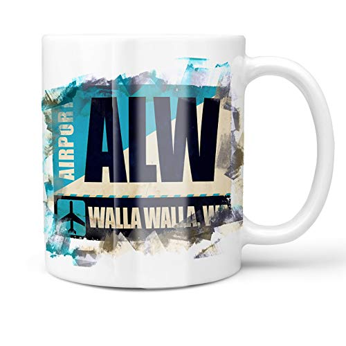 Neonblond 11oz Coffee Mug Airportcode ALW Walla Walla, WA with your Custom Name
