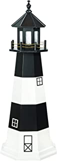 product image for DutchCrafters Decorative Lighthouse - Wood, Fire Island Style (Black/White, 3)
