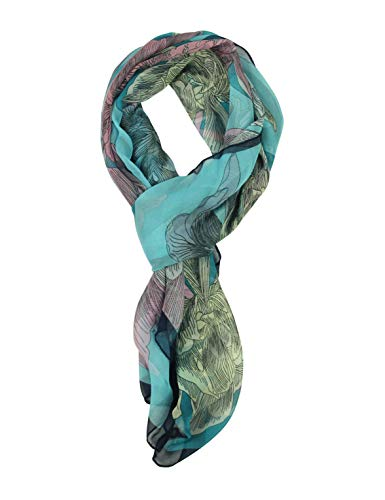 (Long Chiffon Sheer Scarf Gradient - Pantonight Shaded Colors Lightweight Scarf For Womens (NO.728))