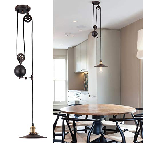 Pulley Pendant Lights Kitchen in US - 5