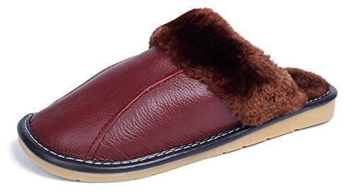 Femme AgeeMi Flat à Coton Rouge Plat Vineux Pantoufles Shoes Chaussures 55qYHP