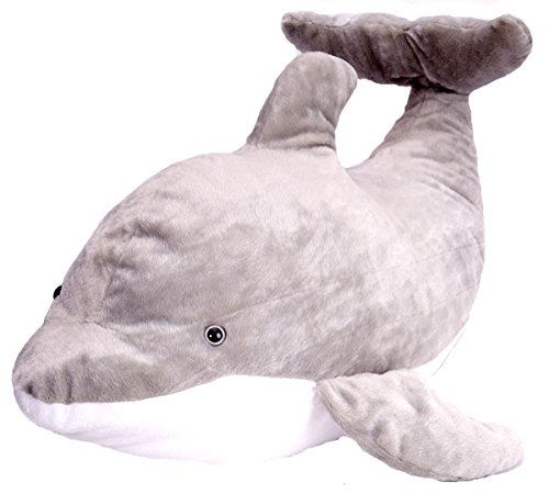 (Wild Republic Jumbo Dolphin Plush, Giant Stuffed Animal, Plush Toy, Gifts for Kids, 30 Inches)
