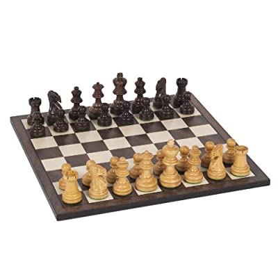 WE Games Staunton Chess Set - Weighted Rosewood Pieces & Wooden Board 12 in.