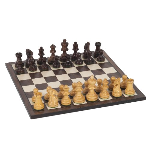 WE Games Staunton Chess Set - Weighted Rosewood Pieces & Wooden Board 12 in. (Boxwood Standard Chess Pieces)