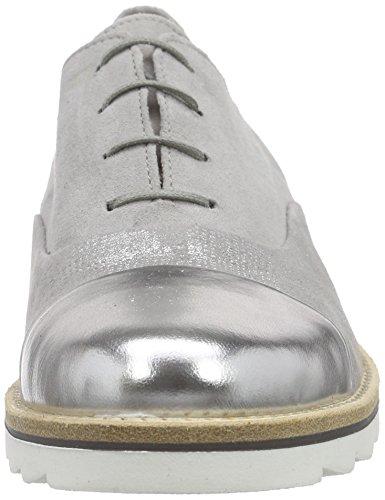 Gabor Gabor - Zapatos de cordones derby Mujer Gris - Grau (19 stone/grau/silber)