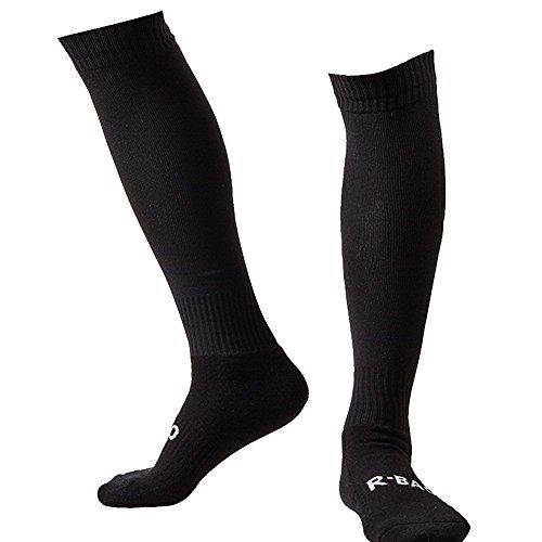 - LANSHI Men's Soccer Socks Compression Long Sport Soccer Socks Over Knee High Sock Competition Training Soccer Socks Black Size M US(6-12)
