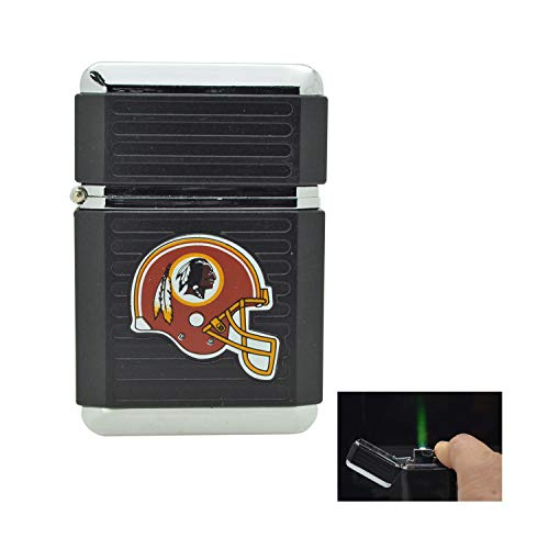 NFL Official License Windproof Refillable Butane Torch Lighter Tin Gift Box (Washington Redskins)