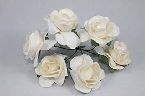 Amazon mini rose bulk paper flowers 05 ivory 144 stems mini rose bulk paper flowers 05quot mightylinksfo