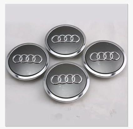 trifinio® 4 Pcs Rueda Centro Tapacubos Tapas para Audi 4B0601170 A Allroad TT A3 A4 A5 A6 A8 S4 S6 RS4: Amazon.es: Coche y moto