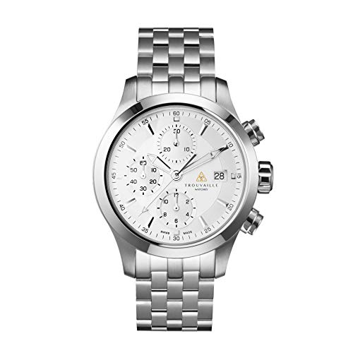 Trouvaille Watches Pilot SS – White Chronograph