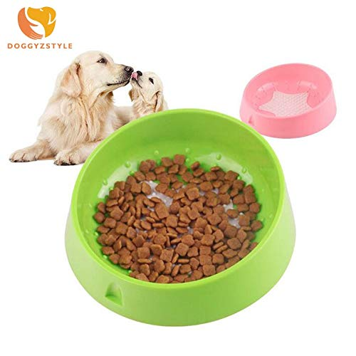 Pet Dog Bowl Puppy Cat Bowl Water Food Storage Feeder Resin Combo Rice Basin 3 colors Pets Products for Small Dogs DOGGYZSTYLE