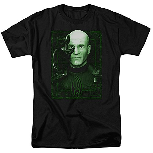 The Borg Star Trek - Trevco Star Trek Locutus Of Borg Mens Short Sleeve Shirt (Black, XX-Large)