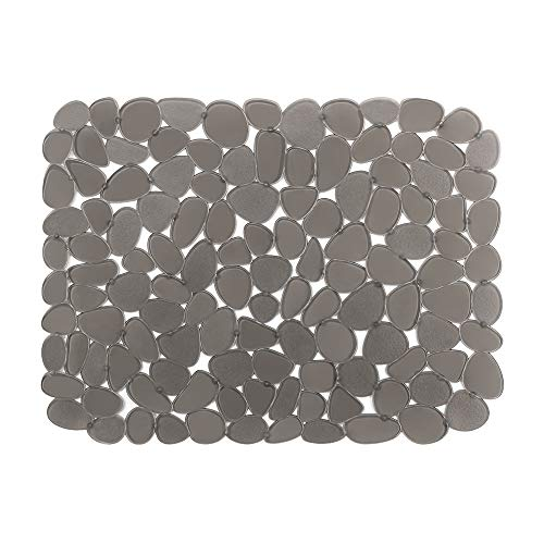 (Sink Mat BliGli PVC Eco-friendly Kitchen Adjustable Sink Mat Pad Pebble Sink Protector,15.8 x 11.8 inches,Rectangle, 1Pack)
