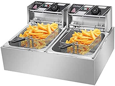 Amazon.com: Electric Deep Fryer -Commercial Double Deep