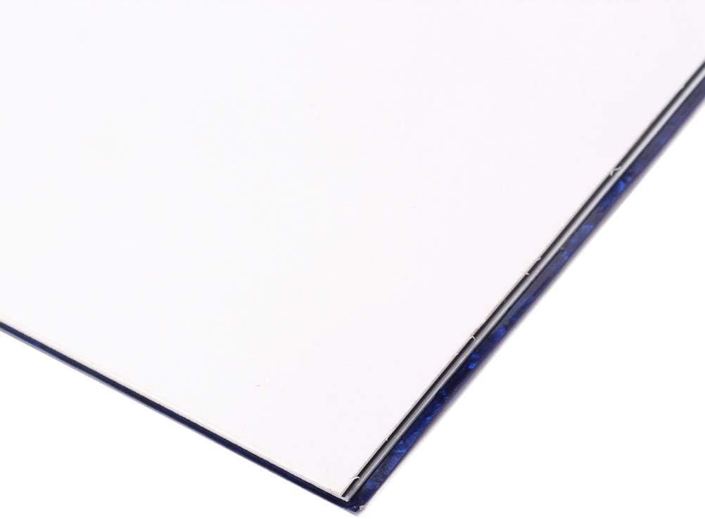 Blue Pearl Artibetter 44 x 29CM self Adhesive Guitar Scratch Plate Blank pickguard Sheet Materials 3ply DIY Guitar Bass