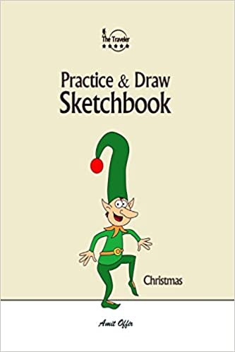 Christmas Cartoon Drawings.Practice And Draw Sketchbook Christmas Learn To Draw