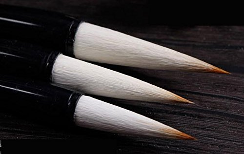 MasterChinese Red Watercolor Chinese Calligraphy Painting Sumi Drawing Kanji Brush Set Jian Hao (Goat-Wolf Hair) - Medium - (with Brief Introduction)